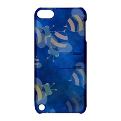 Seamless Bee Tile Cartoon Tilable Design Apple iPod Touch 5 Hardshell Case with Stand