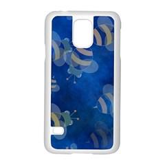 Seamless Bee Tile Cartoon Tilable Design Samsung Galaxy S5 Case (white)