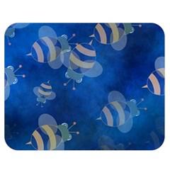 Seamless Bee Tile Cartoon Tilable Design Double Sided Flano Blanket (Medium)