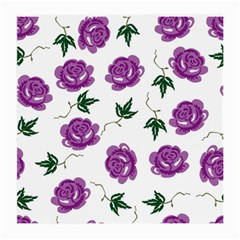 Purple Roses Pattern Wallpaper Background Seamless Design Illustration Medium Glasses Cloth