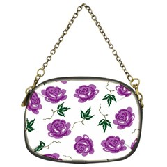 Purple Roses Pattern Wallpaper Background Seamless Design Illustration Chain Purses (one Side)