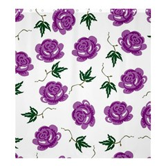 Purple Roses Pattern Wallpaper Background Seamless Design Illustration Shower Curtain 66  x 72  (Large)