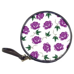 Purple Roses Pattern Wallpaper Background Seamless Design Illustration Classic 20 Cd Wallets