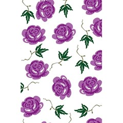 Purple Roses Pattern Wallpaper Background Seamless Design Illustration 5.5  x 8.5  Notebooks