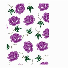 Purple Roses Pattern Wallpaper Background Seamless Design Illustration Small Garden Flag (two Sides)