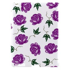 Purple Roses Pattern Wallpaper Background Seamless Design Illustration Apple Ipad 3/4 Hardshell Case (compatible With Smart Cover)