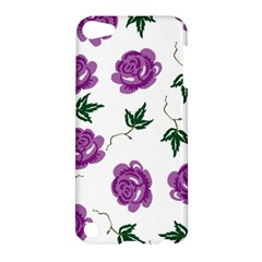 Purple Roses Pattern Wallpaper Background Seamless Design Illustration Apple Ipod Touch 5 Hardshell Case
