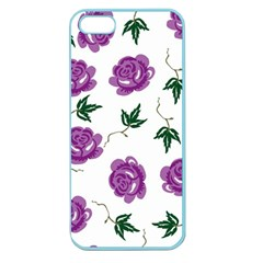 Purple Roses Pattern Wallpaper Background Seamless Design Illustration Apple Seamless iPhone 5 Case (Color)