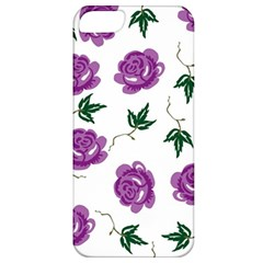 Purple Roses Pattern Wallpaper Background Seamless Design Illustration Apple iPhone 5 Classic Hardshell Case