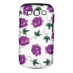 Purple Roses Pattern Wallpaper Background Seamless Design Illustration Samsung Galaxy S Iii Classic Hardshell Case (pc+silicone)