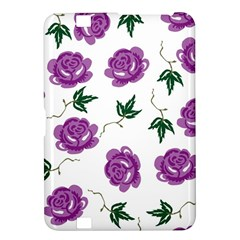 Purple Roses Pattern Wallpaper Background Seamless Design Illustration Kindle Fire HD 8.9