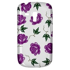 Purple Roses Pattern Wallpaper Background Seamless Design Illustration Galaxy S3 Mini