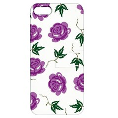 Purple Roses Pattern Wallpaper Background Seamless Design Illustration Apple Iphone 5 Hardshell Case With Stand