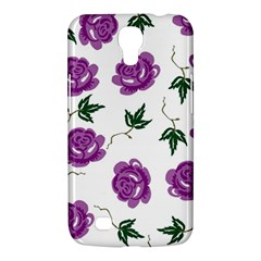 Purple Roses Pattern Wallpaper Background Seamless Design Illustration Samsung Galaxy Mega 6.3  I9200 Hardshell Case