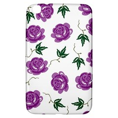 Purple Roses Pattern Wallpaper Background Seamless Design Illustration Samsung Galaxy Tab 3 (8 ) T3100 Hardshell Case