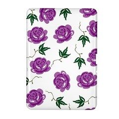 Purple Roses Pattern Wallpaper Background Seamless Design Illustration Samsung Galaxy Tab 2 (10 1 ) P5100 Hardshell Case