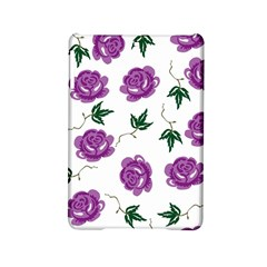 Purple Roses Pattern Wallpaper Background Seamless Design Illustration iPad Mini 2 Hardshell Cases