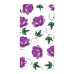 Purple Roses Pattern Wallpaper Background Seamless Design Illustration Samsung Galaxy Note 3 N9005 Hardshell Back Case