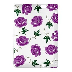 Purple Roses Pattern Wallpaper Background Seamless Design Illustration Kindle Fire HDX 8.9  Hardshell Case