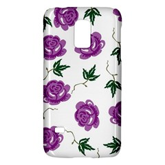 Purple Roses Pattern Wallpaper Background Seamless Design Illustration Galaxy S5 Mini