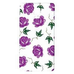Purple Roses Pattern Wallpaper Background Seamless Design Illustration Galaxy Note 4 Back Case