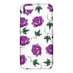 Purple Roses Pattern Wallpaper Background Seamless Design Illustration iPhone 6/6S TPU Case