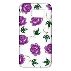 Purple Roses Pattern Wallpaper Background Seamless Design Illustration Galaxy S6