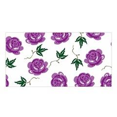 Purple Roses Pattern Wallpaper Background Seamless Design Illustration Satin Shawl