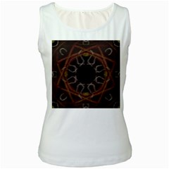 Digitally Created Seamless Pattern Women s White Tank Top
