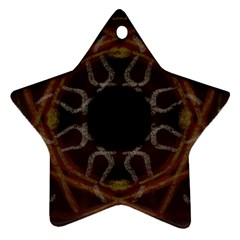 Digitally Created Seamless Pattern Star Ornament (two Sides)