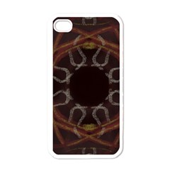 Digitally Created Seamless Pattern Apple Iphone 4 Case (white)