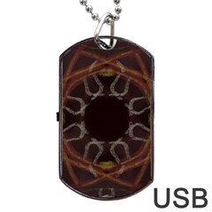 Digitally Created Seamless Pattern Dog Tag USB Flash (One Side)