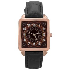 Digitally Created Seamless Pattern Rose Gold Leather Watch