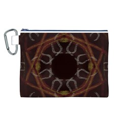 Digitally Created Seamless Pattern Canvas Cosmetic Bag (L)