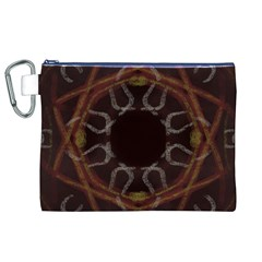 Digitally Created Seamless Pattern Canvas Cosmetic Bag (xl)