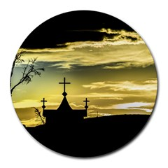 Graves At Side Of Road In Santa Cruz, Argentina Round Mousepads