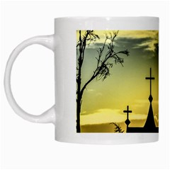 Graves At Side Of Road In Santa Cruz, Argentina White Mugs