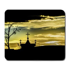 Graves At Side Of Road In Santa Cruz, Argentina Large Mousepads