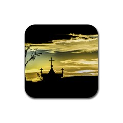 Graves At Side Of Road In Santa Cruz, Argentina Rubber Square Coaster (4 pack)