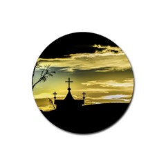 Graves At Side Of Road In Santa Cruz, Argentina Rubber Round Coaster (4 pack)