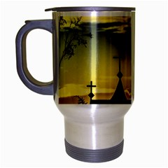 Graves At Side Of Road In Santa Cruz, Argentina Travel Mug (Silver Gray)