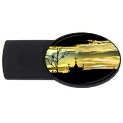 Graves At Side Of Road In Santa Cruz, Argentina USB Flash Drive Oval (4 GB)