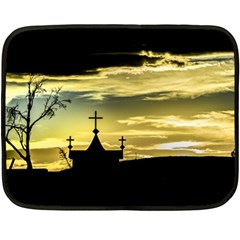 Graves At Side Of Road In Santa Cruz, Argentina Double Sided Fleece Blanket (Mini)