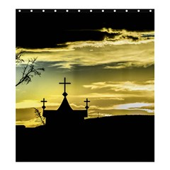 Graves At Side Of Road In Santa Cruz, Argentina Shower Curtain 66  x 72  (Large)