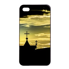 Graves At Side Of Road In Santa Cruz, Argentina Apple iPhone 4/4s Seamless Case (Black)
