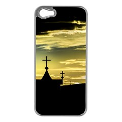 Graves At Side Of Road In Santa Cruz, Argentina Apple iPhone 5 Case (Silver)