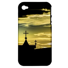 Graves At Side Of Road In Santa Cruz, Argentina Apple iPhone 4/4S Hardshell Case (PC+Silicone)