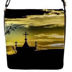 Graves At Side Of Road In Santa Cruz, Argentina Flap Messenger Bag (S)