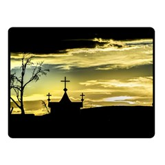 Graves At Side Of Road In Santa Cruz, Argentina Double Sided Fleece Blanket (Small)