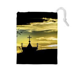 Graves At Side Of Road In Santa Cruz, Argentina Drawstring Pouches (Large)